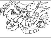 Ариэль на большой черепахе