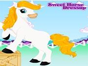 Веселие с яркой лошадкой