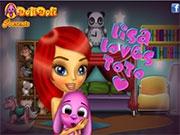Красавица Лиза и любимый Тото