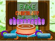 Большой шоколадный чизкейк