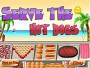 Вкусные хот-доги на пляже