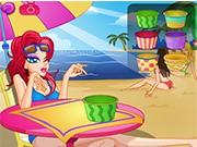 Кушаем Мороженое на пляже