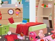 Уборка в спальне девочки