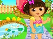 Даша занимается садом