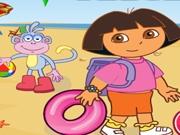 Даша и ее друзья отправляются на пляж