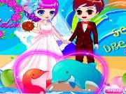 Романтическая свадьба c дельфинами
