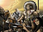 Сражение индейцев