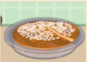 Пирог кофейный с яблоком