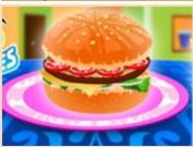 Очень вкусный гамбургер