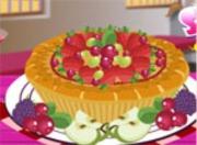 Украшаем фруктовый пай