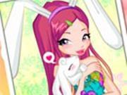 Образ забавного кролика