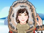 Девушка на Северном полюсе