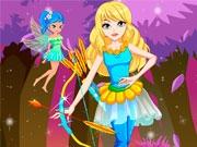 Красивая лучница и фея