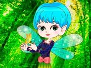 Маленькая фея с бабочкой