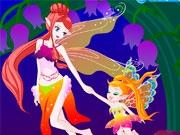 Прекрасная фея с малышкой
