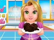 Малышка Рапунцель готовит пирожные