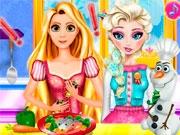 Эльза и Рапунцель готовят вместе