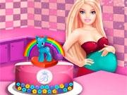 Торт-пони беременной Барби