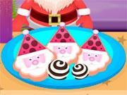 Санта готовит замороженное печенье