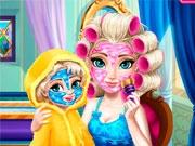 Эльза с малышкой: спа-процедуры