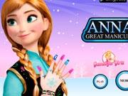 Маникюр для принцессы Анны