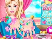 Барби в маникюрном салоне