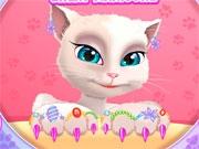 Новый маникюр кошки Анжелы