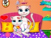 Анжела заботится о малыше