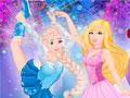 Барби на коньках с принцессами
