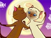 Целующиеся кошки