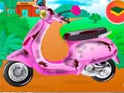 Помой скутер Барби
