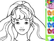 Раскраска с Барби