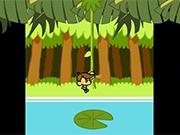 Ловкая обезьянка в джунглях