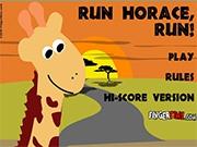 Жираф уходит от погони